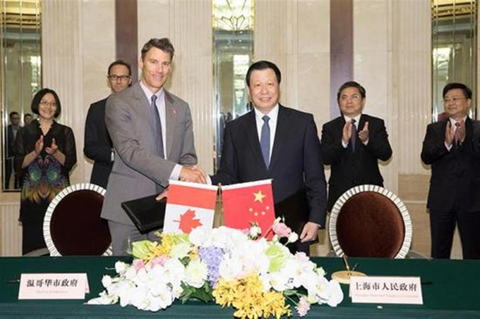 Shanghai and Vancouver strengthen sister city links