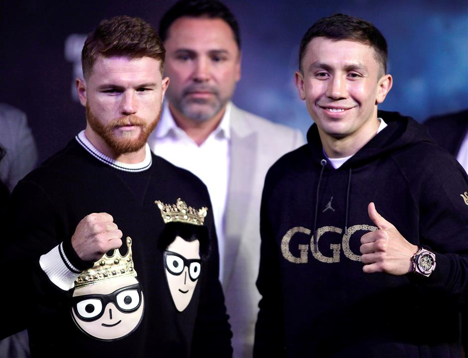Baby's birth doesn't stop Golovkin training for big fight against Alvarez