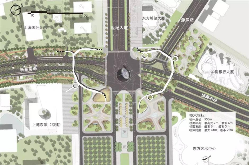 Main road to become expressway in Pudong