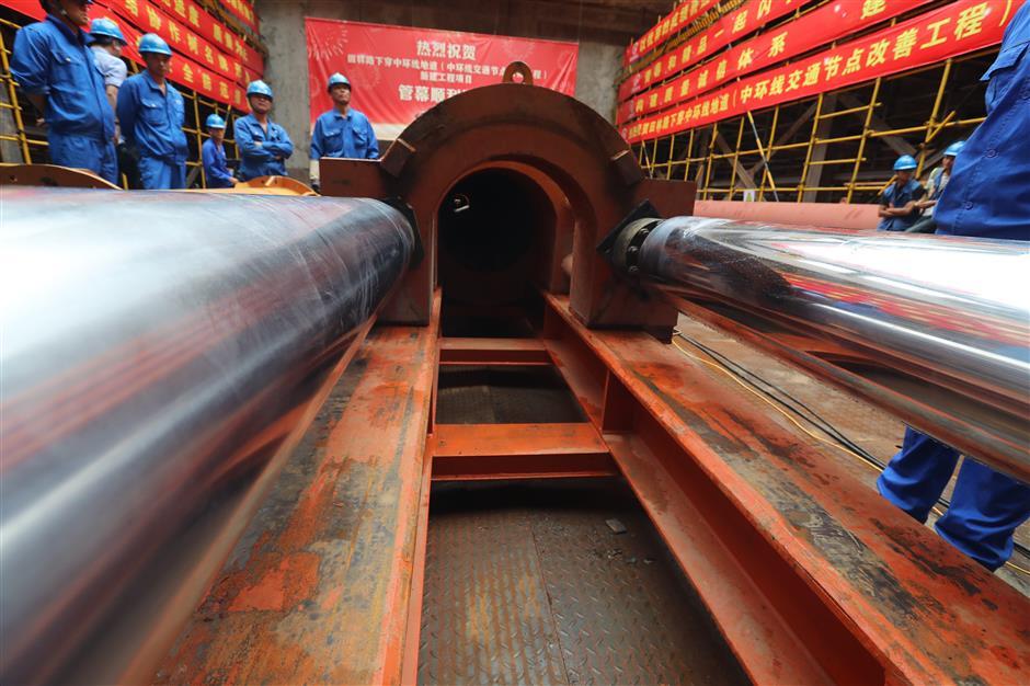 Digging starts on new artery between Xuhui and Minhang