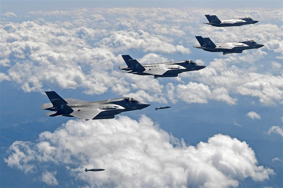 US flies powerful warplanes amid tensions with North Korea