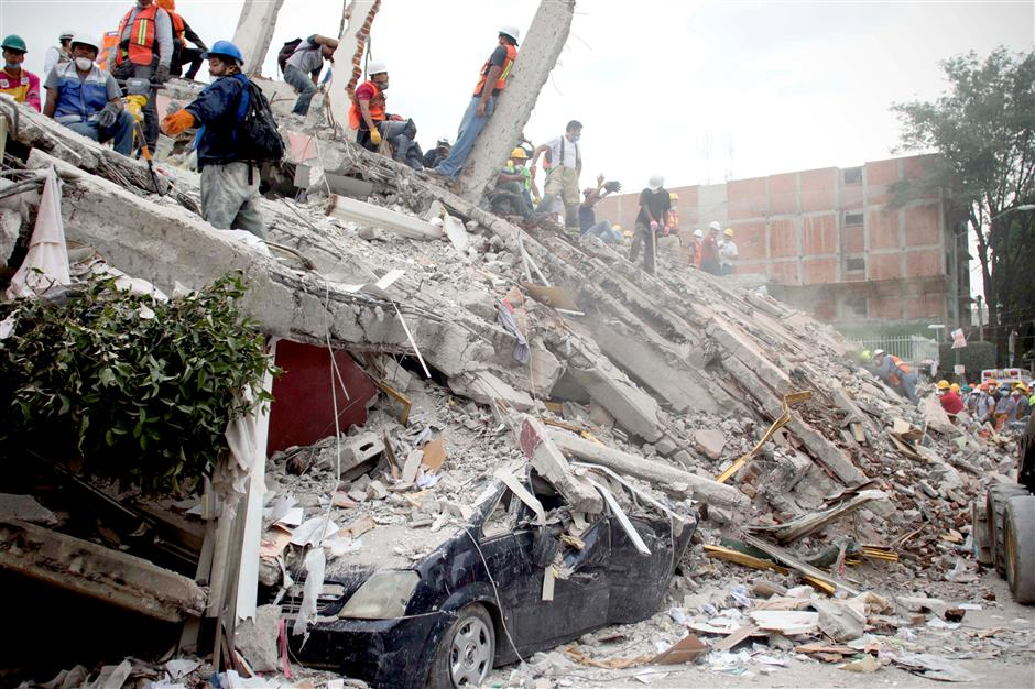 Chinese president expresses condolences to Mexico over earthquake