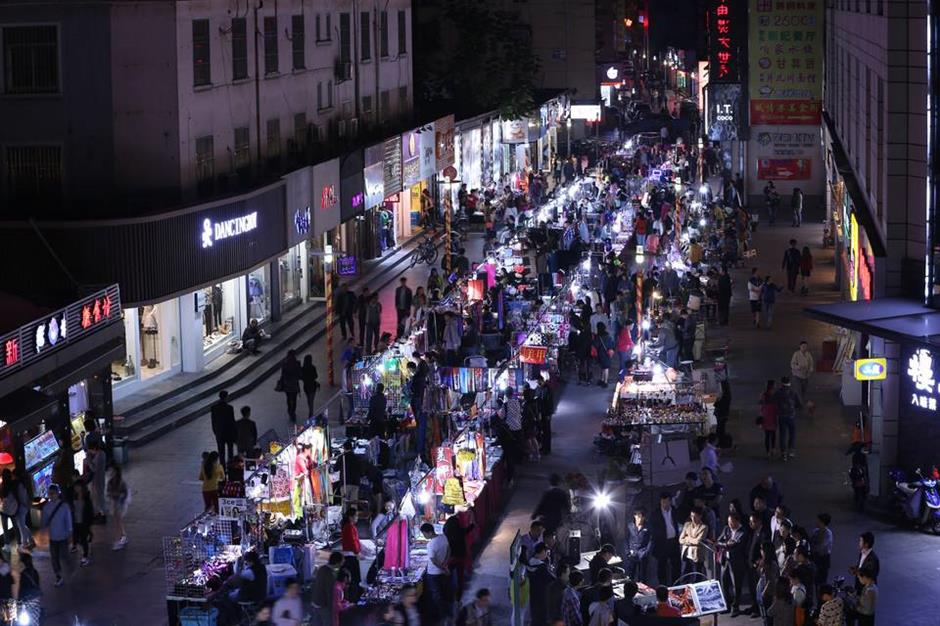 A traditional night market gives you a taste of the city
