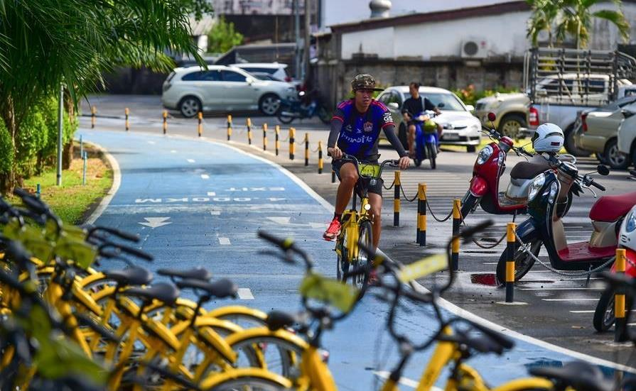 Bike sharing becomes new way of transport, exercise in Thailand's Phuket