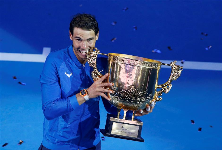 Nadal wins 6th title of the year in Beijing