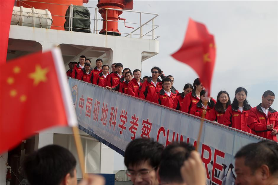 Chinese icebreaker returns from record Arctic expedition