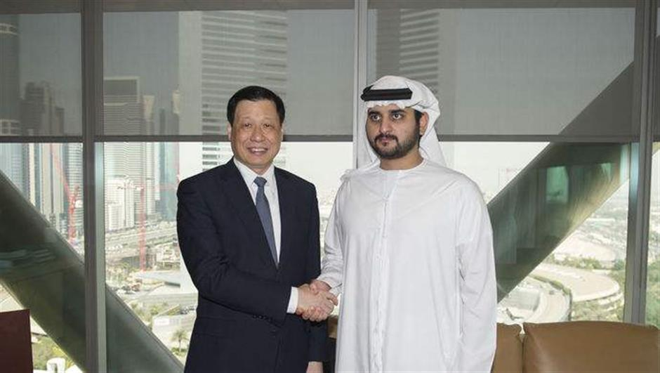 Mayor discusses twin-city cooperation in Dubai