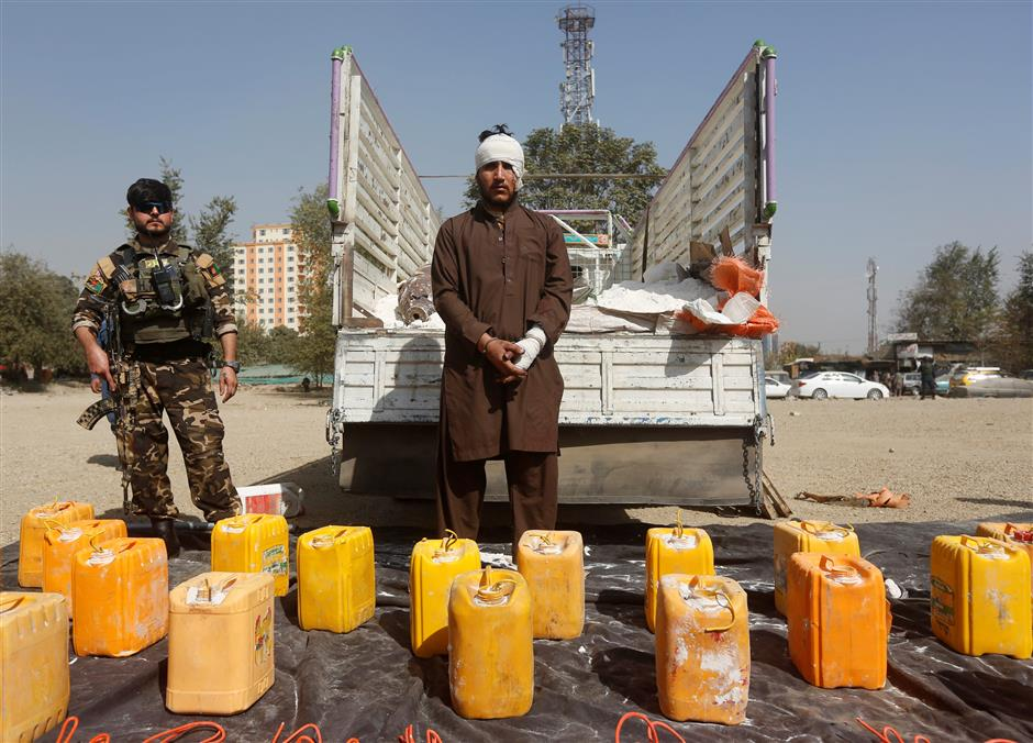Afghan police foil truck bomber in Kabul: officials