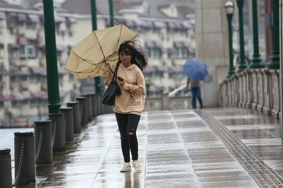 Shanghai to be wet and windy