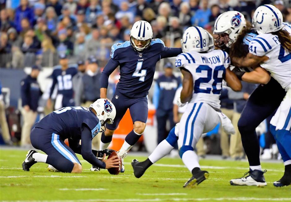 Titans kicker extends record to 51 straight kicks inside 50 yards