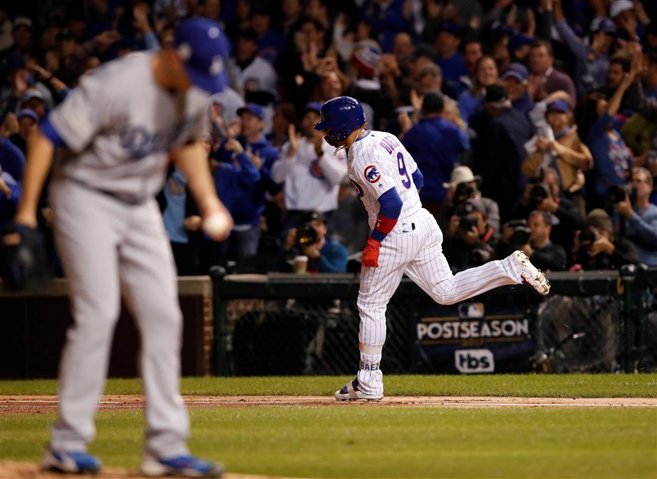 Wood gives up 3 homers as Dodgers lose 2-3 to Cubs in NLCS