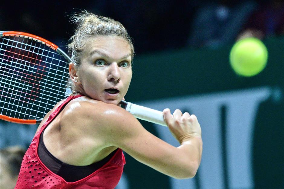Halep, Wozniacki claim revenge wins at WTA Finals in Singapore