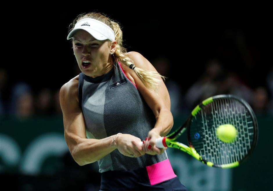 Halep, Wozniacki claim revenge wins at WTA Finals in Singapore