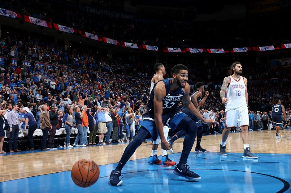 Wiggins, Timberwolves silence Thunder