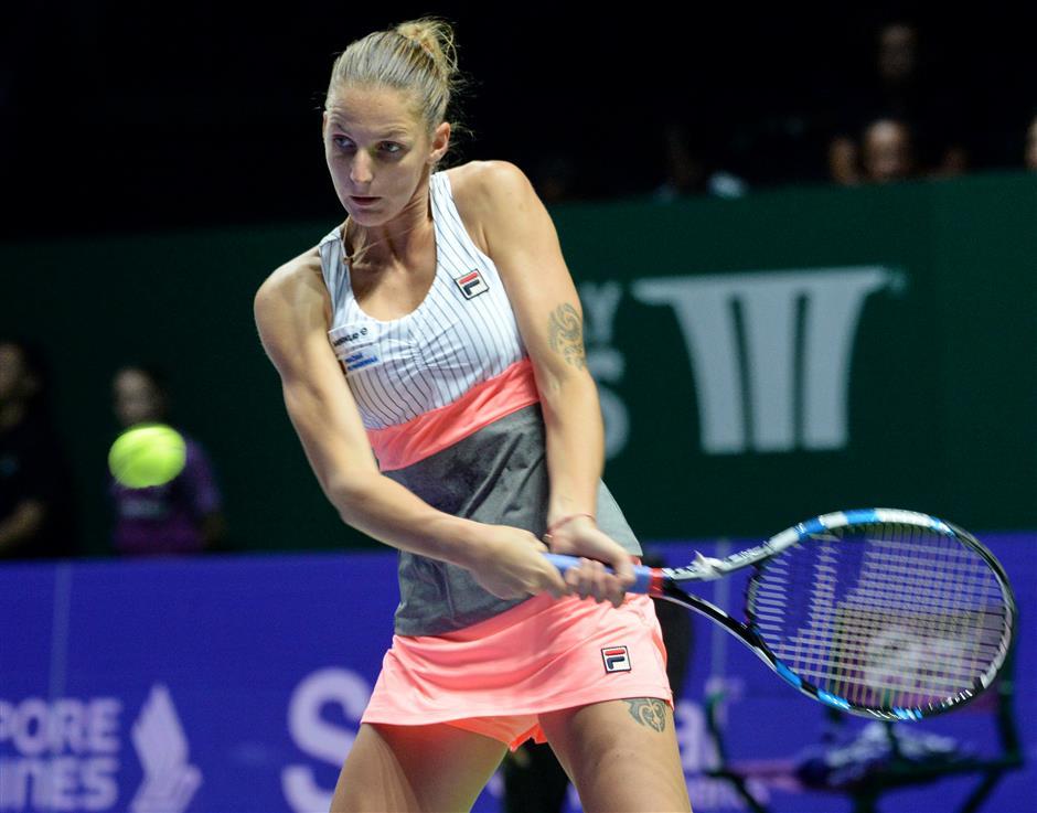 Unbeaten Pliskova happy to avoid last pool match jeopardy