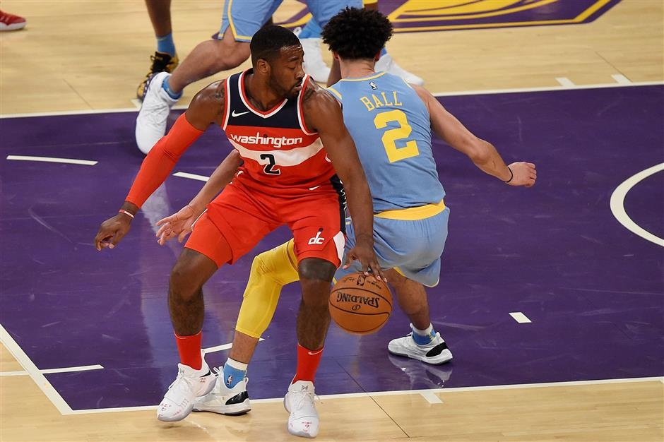 0ce1edf9d63 Lakers win gives Ball last word on Wizards  Wall - SHINE News