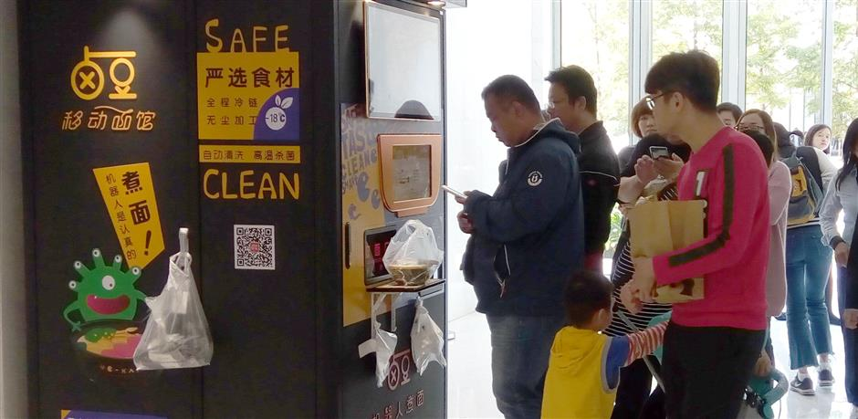 Popular noodle vending machines fall short of bylaws
