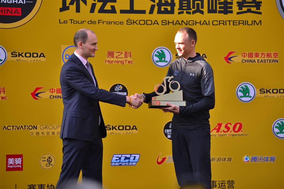 Froome conquers China, eyes 5th Tour de France title
