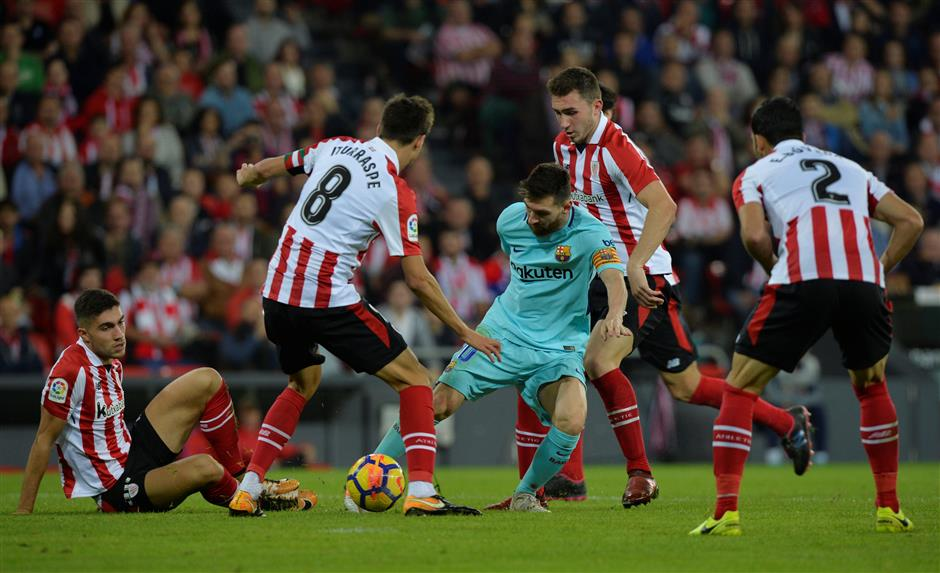 Ter Stegen hailed for clawing Barca out of trouble in Bilbao