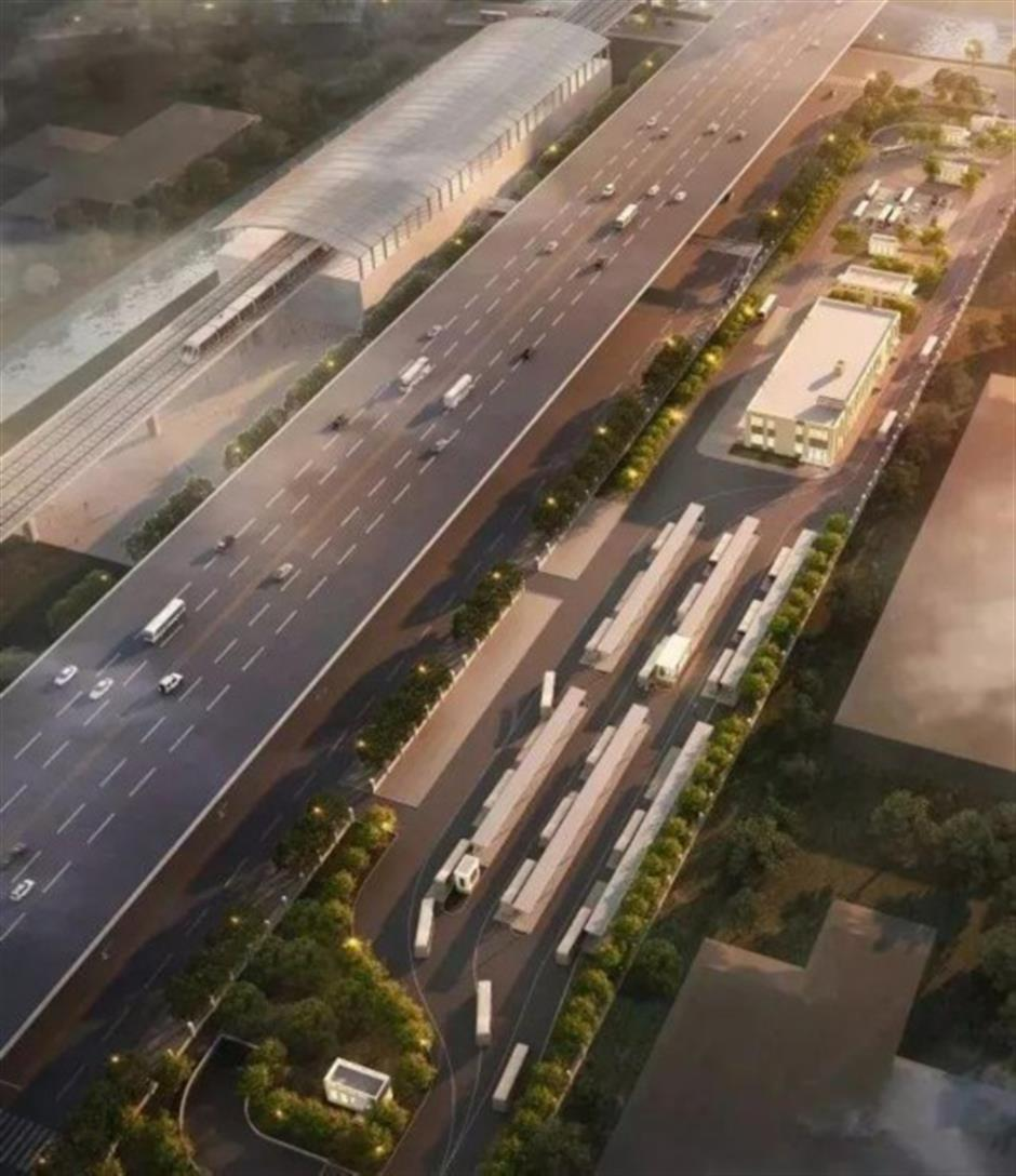 Large parking facility to be built byZhoupu East Metro station