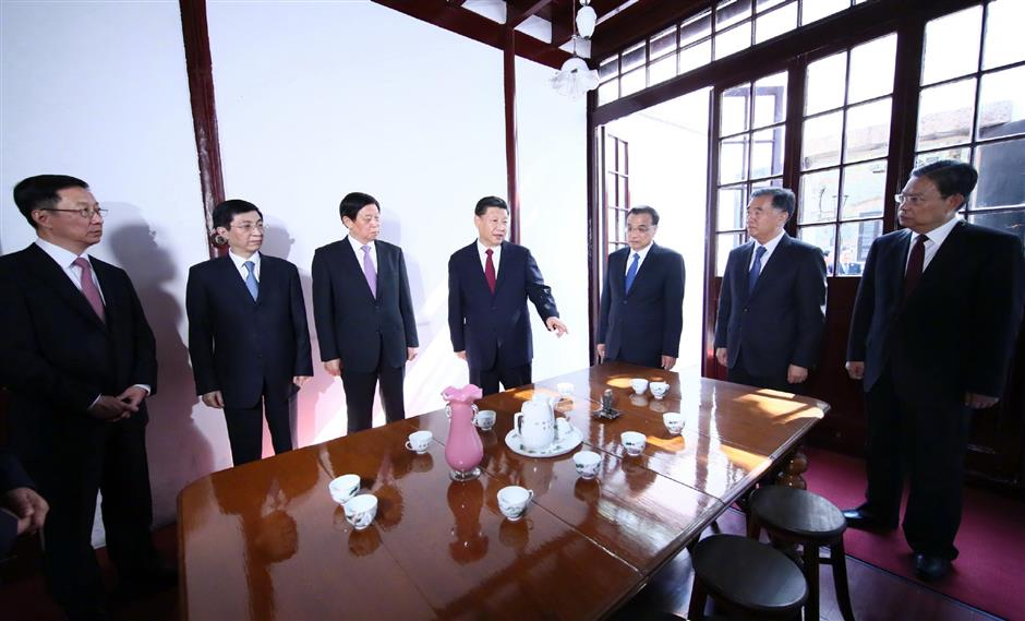 Newly-elected CPC leaders visit revolutionary historical site