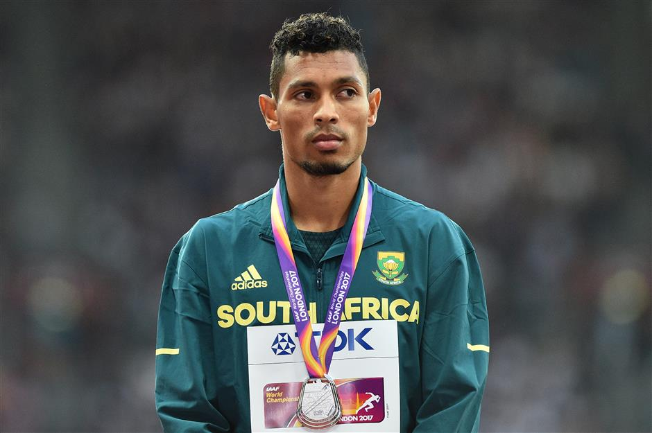Van Niekerk out for months after injuring knee in rugby game