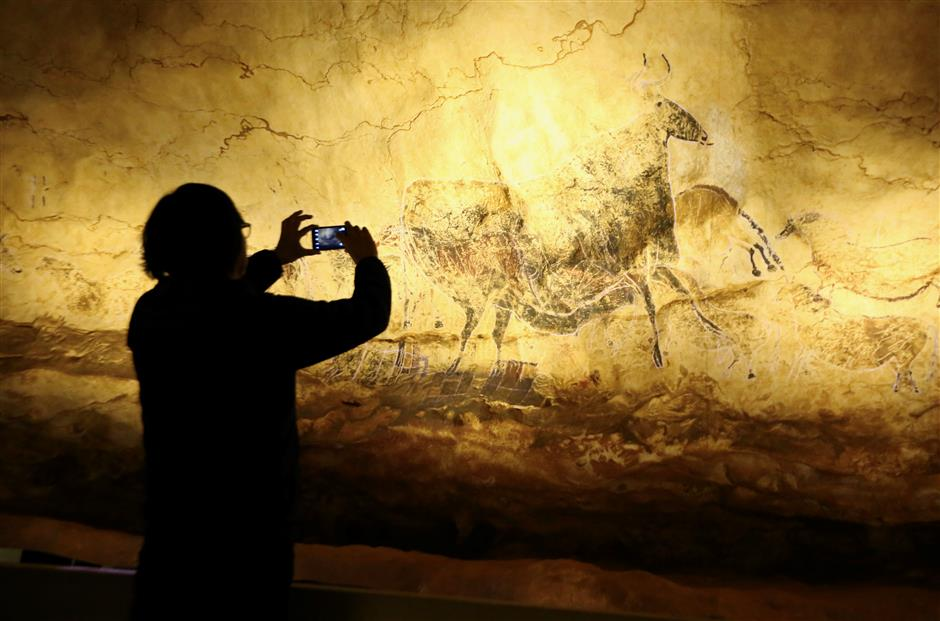 Replicas of French cave art exhibited