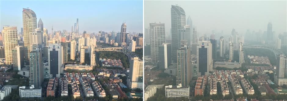 Shanghai air quality 'heavily polluted' today
