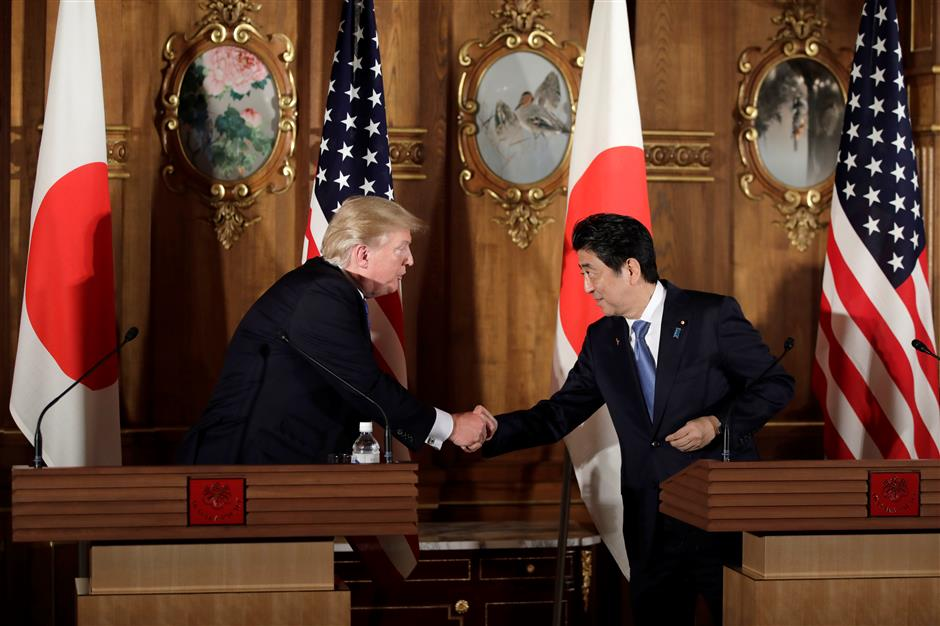 Trump calls on Japan for more reciprocal trade