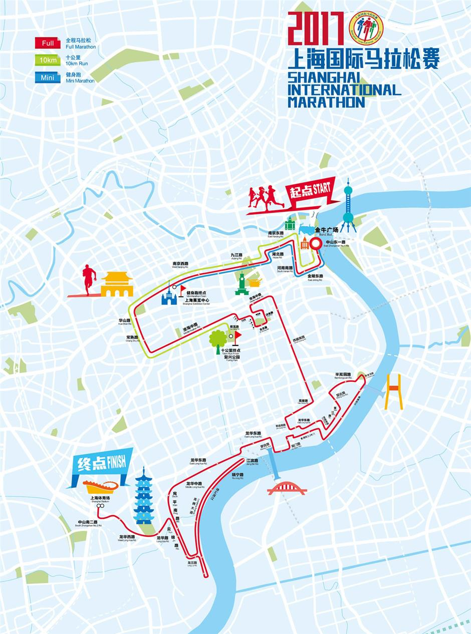 Downtown streets to close during Shanghai International Marathon
