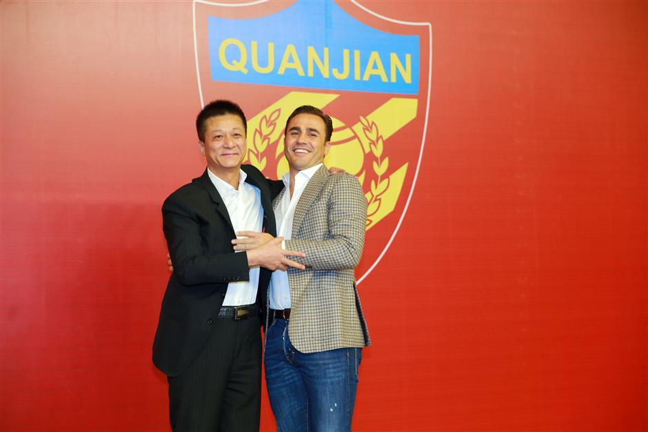 Cannavaro quits as Tianjin coach amid Evergrande rumors