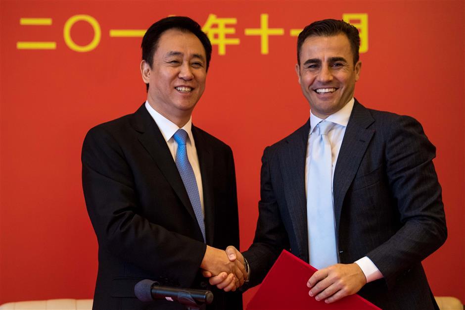 Cannavaro returns to Chinese champions Guangzhou