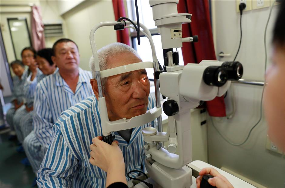 Hospital trains a lifeline for cataract victims in rural areas
