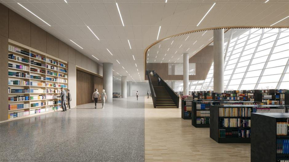 New library to have more open space for public use