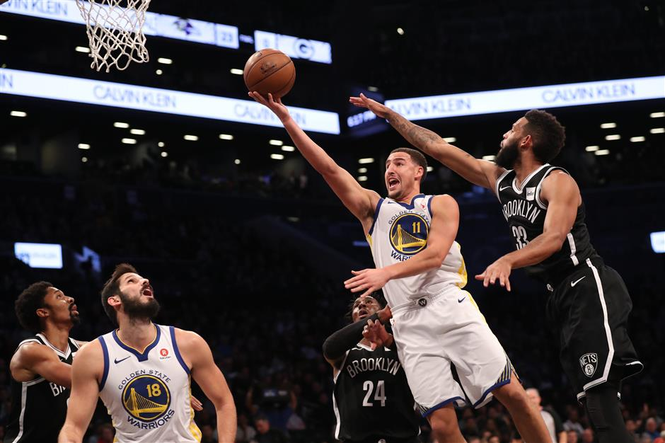 Curry scores 39 to power Durant-less Warriors over Nets