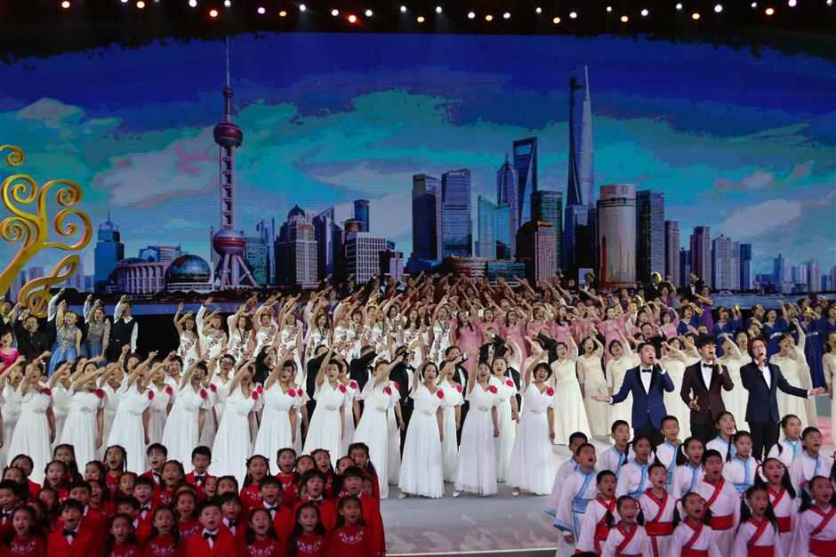 Thousands take part in choral performances