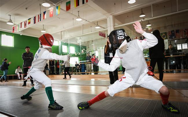 Fencing school league event held in Jinqiao