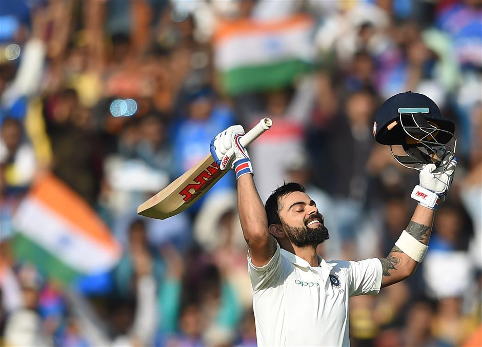 Kohli's double ton headlines India's run feast