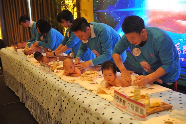 Baby massage promotes health and closer connection