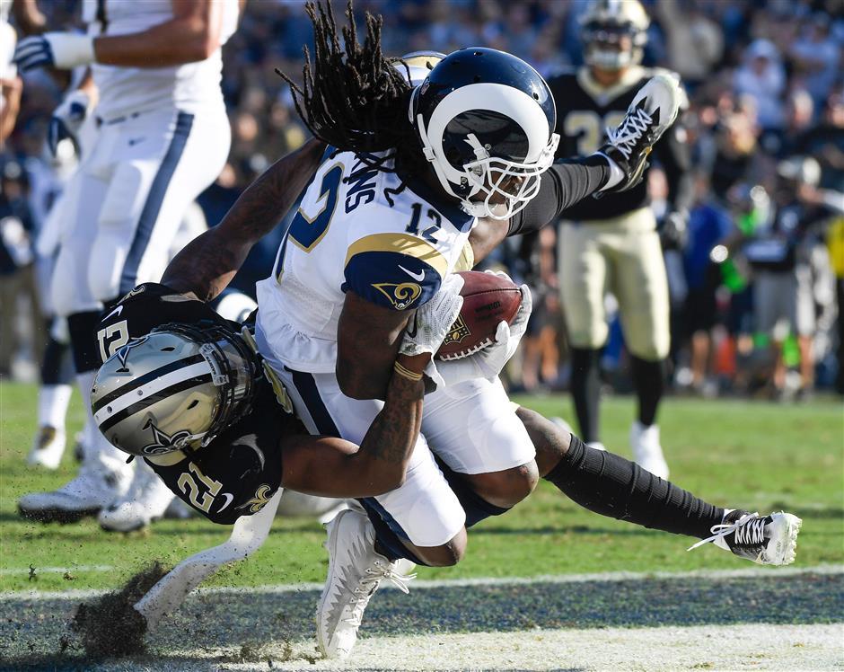 Goff shines as Rams stop Saints' win streak