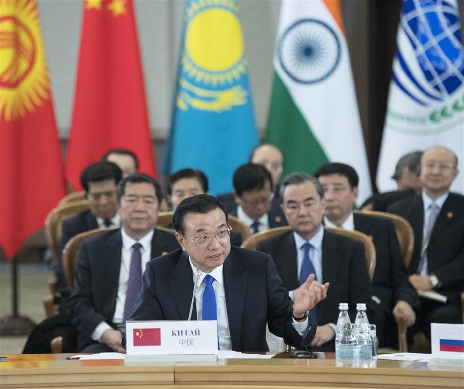 Chinese premier calls for closer SCO cooperation in security, trade, regional connectivity