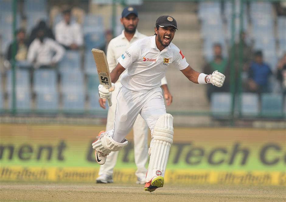 Chandimal's century helps Sri Lanka avoid follow-on versus India