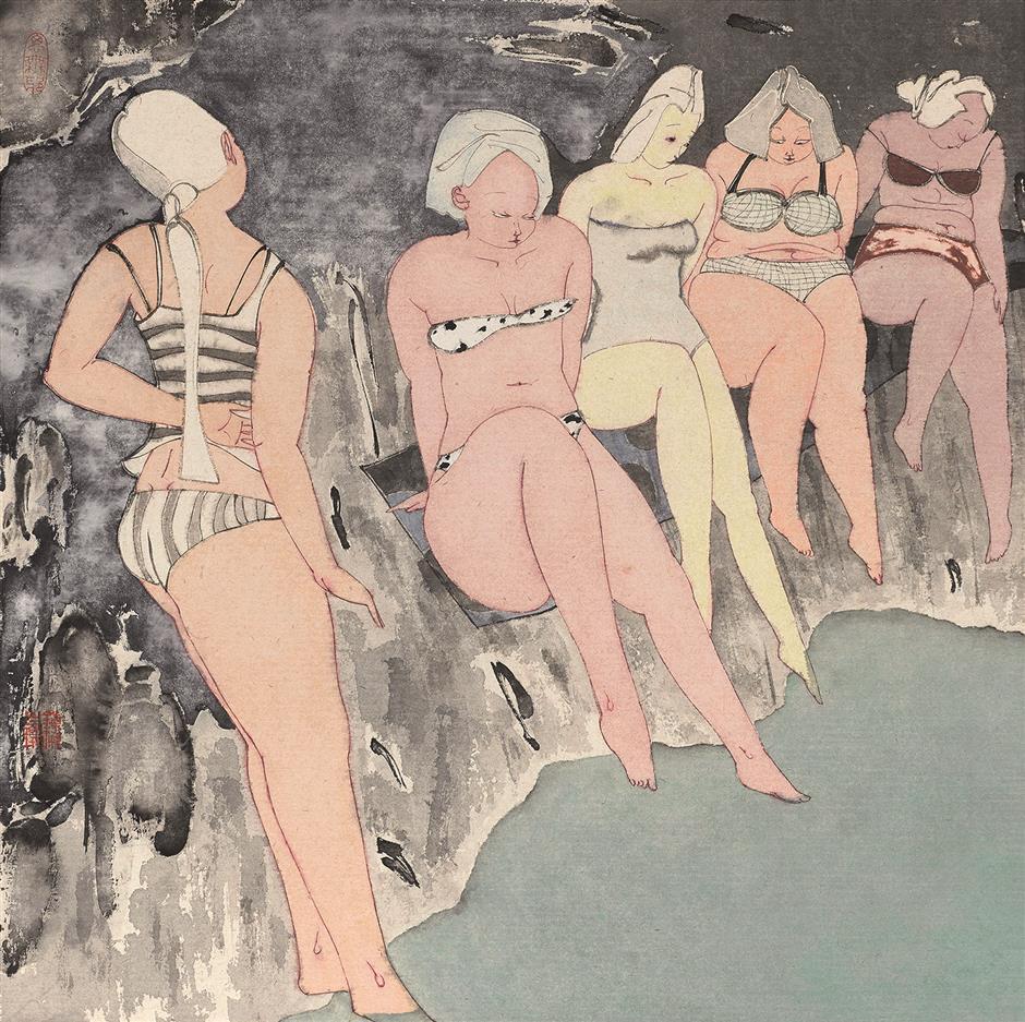 An artist's tangled web of women