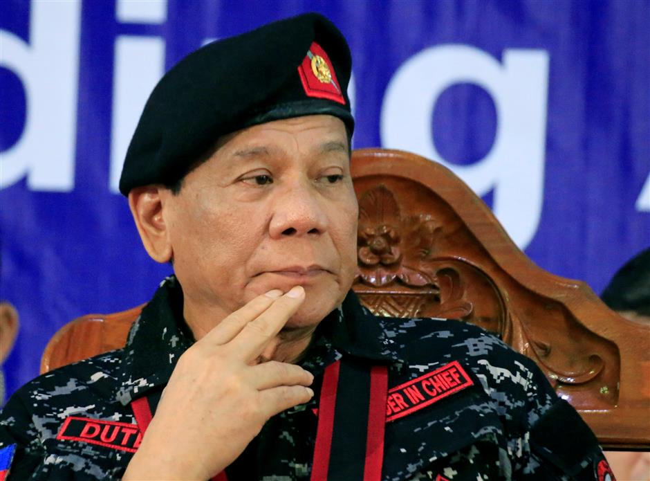 Philippines' Duterte to seek one-year extension of Mindanao martial law