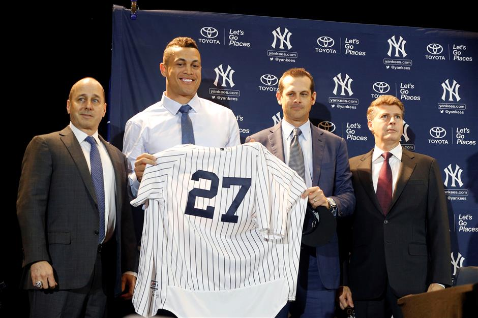 Stanton joins Judge as Yankees' Towers of Power