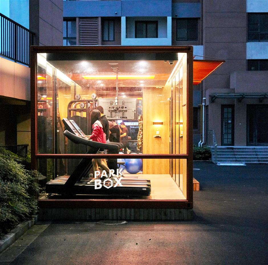 Tiny gyms to be installed around Shanghai