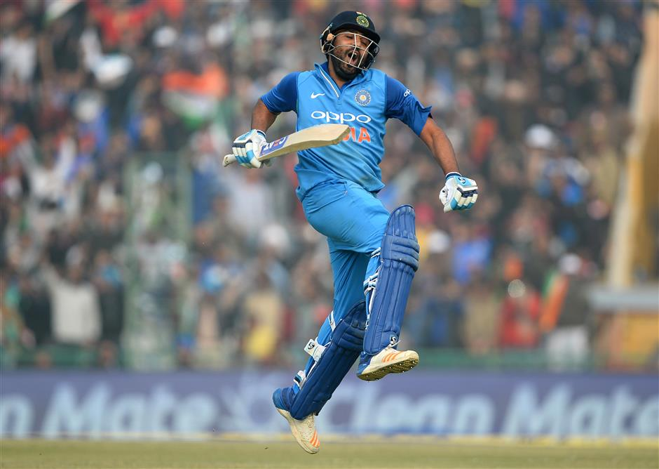 Rohit smashes third ODI double ton in India's big win over Sri Lanka
