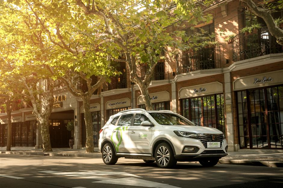 Electric SUV rental cars introduced in Shanghai