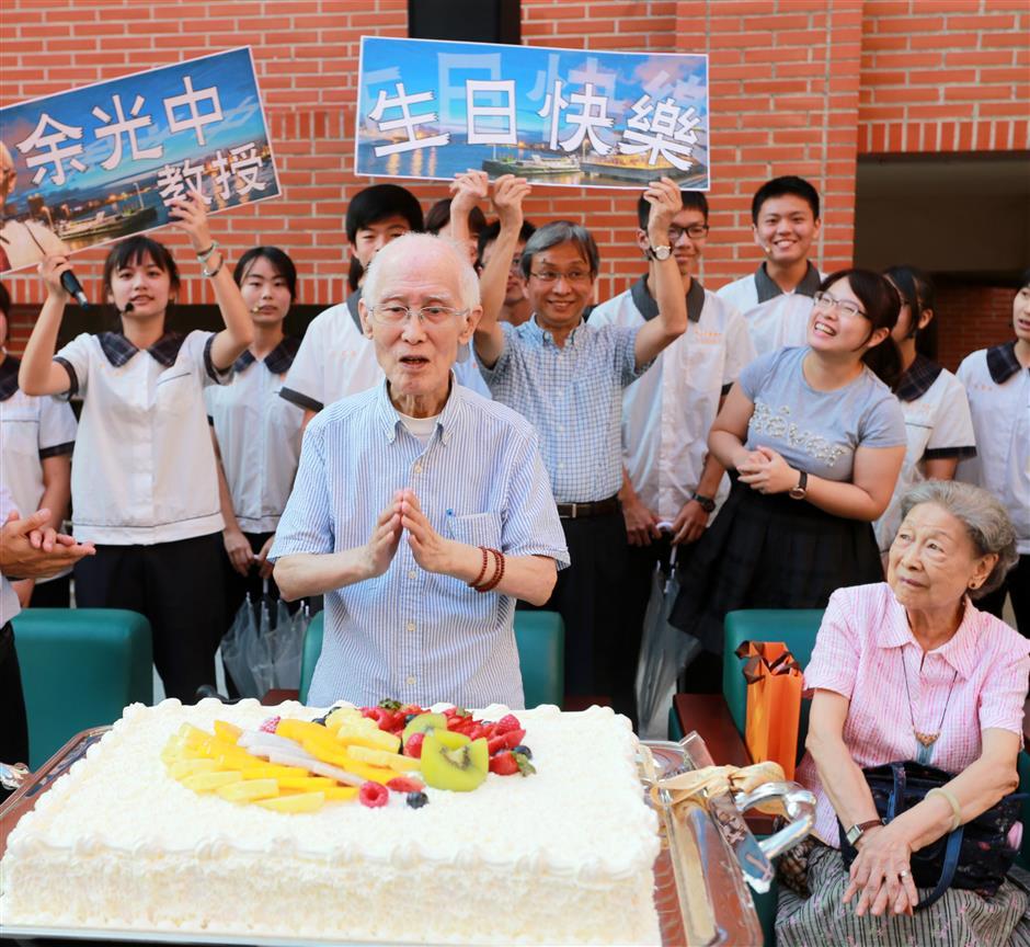Esteemed Taiwan poet YuGuangzhongdies