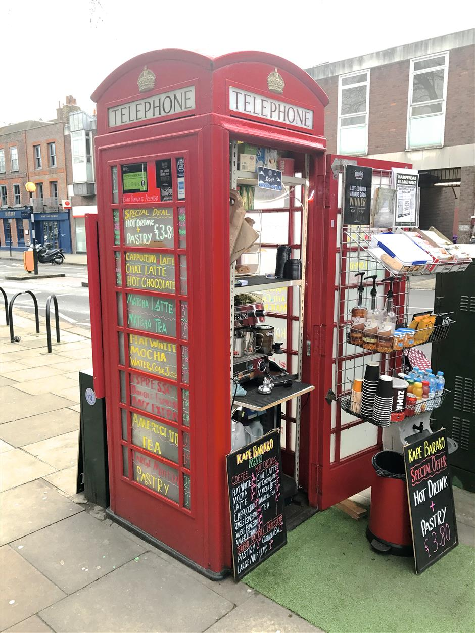 UK's iconic phone boxes ring in the change